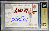 Lonzo Ball 2017-18 Panini Encased RED RC Rookie On Card AUTO 12/25 BGS 9.5 POP 6