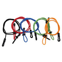 elastic rubber bungee cord fishing rod/ kayak paddle leash with snap hook DS
