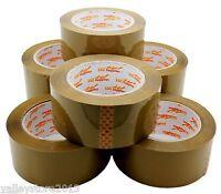 """Lot 6 12 3 Brown Tan Clear Packing Carton Sealing Packaging Tape 2"""" 110 Yds 330'"""