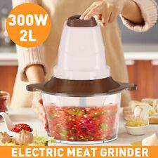 2L Elektrisch Multi Zerkleinerer Zwiebelschneider Fleischwolf Gemüse Obst 300W