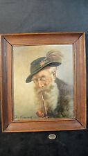 tableau huile sur panneau signé par l'artiste personnage autrichien ? début XXé