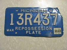 2005 MICHIGAN LICENSE PLATE   FREE SHIPPING REPOSSESSION