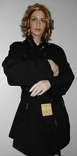 MICHAEL KORS BLACK TRENCH RAINCOAT WOMENS JACKET HOODED BELTED SOFT SIZE 2X