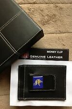 NEW MINNESOTA VIKINGS LEATHER MONEY CLIP WALLET BILLFOLD NFL with GIFT BOX