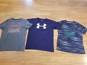 Under Armour Boys Big Logo T-shirt x 3 - Size YMD 10-12