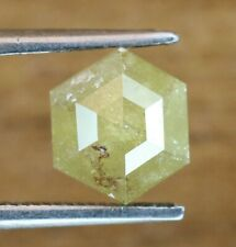 1.20 Ct Yellow Color Rustic Hexagon Shape Natural Loose Fancy Polished Diamond