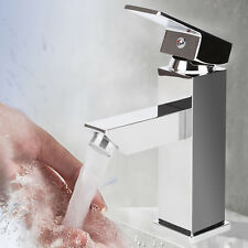 ALDO MODERN CLOAKROOM BATHROOM CHROME SOLID BRASS BASIN MIXER TAP & FREE WASTE