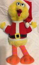 SESAME STREET Big Bird in Santa Suit Plush Stuffed 1988 PLAYSKOOL Christmas