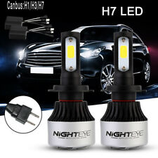 Nighteye 9000LM H7 COB LED Headlight Light Bulbs 6500K with CANbus Error Free