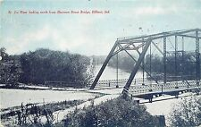 c1910 Postcard St. Joe River North from Sherman Street Bridge, Elkhart IN Posted