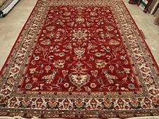 Rectangle Amazing Floral Area Rug Hand Knotted Silk Wool Carpet (10 x 7)'