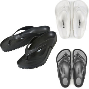 Men Birkenstock Honolulu EVA Flip Flops Black Grey White Beach Sandals NEW