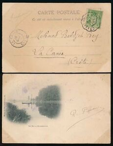 FRANCE to CRETE 1900 PPC...CHALINDREY NANCY TPO POSTMARK