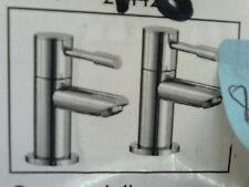 Jacuzzi 3/4 Inch Bath Pillar Taps Chrome 20442 With Lever Handles