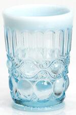 Tumbler - Eyewinker - Aqua Opalescent Glass - Mosser USA