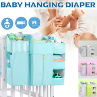 Baby Crib Bed Hanging Storage Bed Diaper Bag Organizer For Crib Nursery Pocket