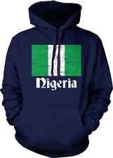 Distressed Nigeria Country Flag - Nigerian Pride  Hoodie Pullover