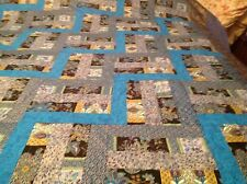 Blue Peacock Double/Full Size Quilt