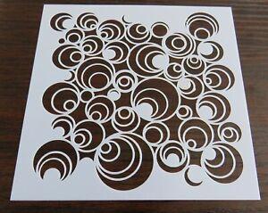 Concentric Circles - Mixed Media Stencil Mask Template  – BNIP & Free P&P