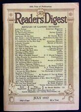July 1937 Readers Digest - Great Condition