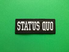 HEAVY METAL PUNK ROCK MUSIC FESTIVAL SEW ON / IRON ON PATCH:- STATUS QUO (a)