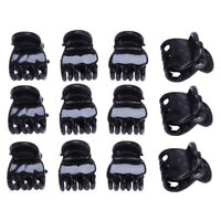 12 Pcs Black Plastic Mini Hairpin 6 Claws Hair Clip Clamp for Ladies A2K6