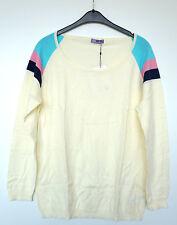 Gestreifte Damen-Pullover & -Strickware mit Rundhals-Ausschnitt und Übergröße