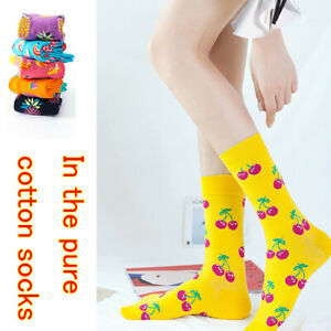 Characteristic Cartoon Fruit Pattern All-match Cotton Socks for Men and Women