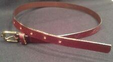 "Woman's Vintage 29"" Agner Reddish Brown Narrow Leather Belt *"