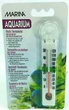 Marina Aquarium Plastic Thermometer with Suction Cup for Fresh & Saltwater 5.25""
