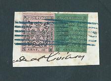 MODENA 1852 - FRANCOBOLLI DA 5cent.VERDE ( PUNTO IN ALTO DOPO IL 5 ), 10cent