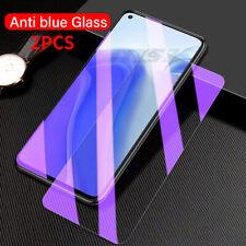 2PCS OPPO Realme 8 8s 7 7 Pro X7 Pro Anti Blue Tempered Glass Screen Protector