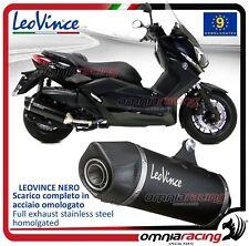 Leovince Nero Tubo de Escape acero aprobado Yamaha X-Max 400 (XMax) 2013>2016
