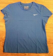Nike Sport XL Fit Dry Blue Logo Athletic Workout Exercise Shirt