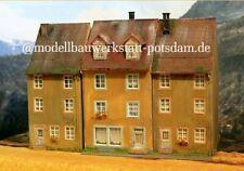 💪Diorama H0 #1:87 Stadthäuser 3 tlg. patiniert #Top Gebäude @wollweber #1