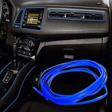 10M Universal Car Styling Flexible Interior Decoration Moulding Trim Strips Blue