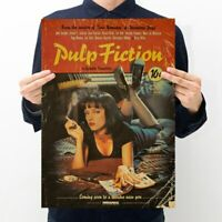 Pulp Fiction Retro Nostalgia Classic Old Movie Poster Kraft Paper Wall Sticker
