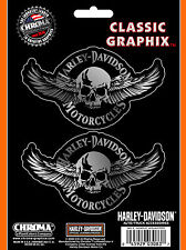 """Original Harley-Davidson Decal """"SKULL WINGS""""  Aufkleber *CG-3083*"""