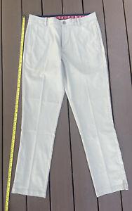 Men's PUMA GOLF Way 1 Beige Tan Khaki Performance Flat Front Pants Size 32 x 32