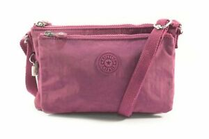 Kipling AC7861 3ED Mikaela Stone Purple Nylon Ladies Mini Crossbody Bag
