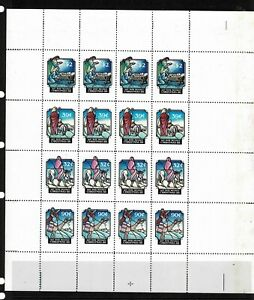 Hutt River Province 1988 Christmas Complete Sheet Of Sixteen Stamps - MUH