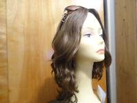 Malky European Sheitel Multidirectional Human Kosher Wavy Hair Wig Medium Brown
