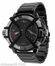 Fastrack Design Black Dial Men's Watch FOREST BRAND Double Time In BOX PACKING