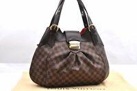 Authentic Louis Vuitton Damier Sistina Shoulder Bag N41540 LV 96303