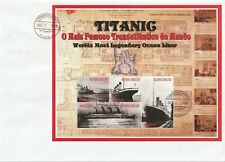 ANGOLA 7 DEC 1998 RMS TITANIC MINIATURE SHEET OVERSIZED FIRST DAY COVER
