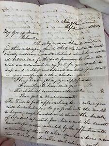 Antique/Vintage 1865 Beautifully Handwritten Letter