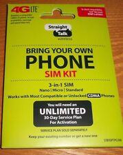Straight Talk BYOP SIM Card Activation OVERNIGHT SHIPPING - VERIZON