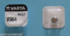 25 x VARTA Uhrenbatterie V364 SR621SW 17mAh 1,55V SR60 SR621 AG1 Knopfzelle