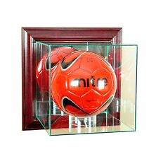 *NEW Wall Mounted Glass Soccer Glass Display Case UV MLS Free Shipping Made USA