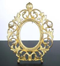 Italia XVIII Cornice in bronzo oro e decorazione pianta fogli di acanthes Frame